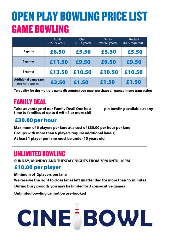 Bowling Price Guide